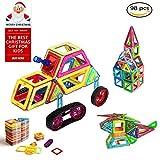 Blocchi Costruzioni Magnetici, OCDAY Blocchi Magnetici Arcobaleno di con Serie da 98 Pezzi 3D DIY Giocattoli Educativi Kit Accatastamento Aggiornati per Bambini e Adulti