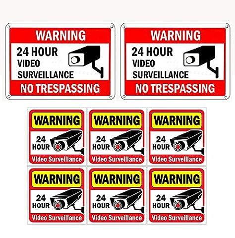WISLIFE CCTV Sign Set, 2 (10