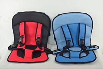 sagrach Car Cushion Seat with Safety Belt for small Kids & Babies (Multi Color, 1 pack)