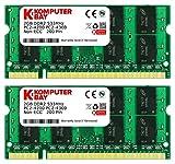 Komputerbay J11 4GB DDR2 533MHz 2X2GB PC2-4200 PC2-4300 (200 PIN) SODIMM Laptop-Speicher