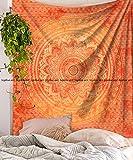 Sophia Art Orange Ombre Mandala Tapisserie Ombre Betten, Mandala Tapisserie Wandbehang Ombre Wand, Multi Farbe Indischen Mandala Wall Art Hippie Zum Aufhängen
