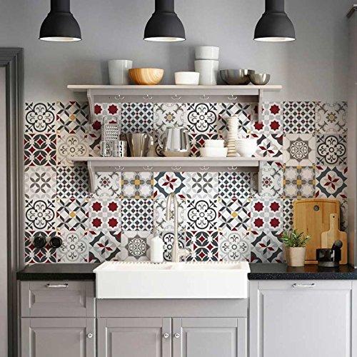 PS00166 Leopoli Adesivi in PVC per Piastrelle per Bagno e Cucina Stickers Design