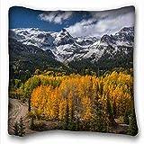 Linkla Danniol Custom Characteristic (Landscapes Mountains Forest Road Autumn) Rectangle Pillowcase 18