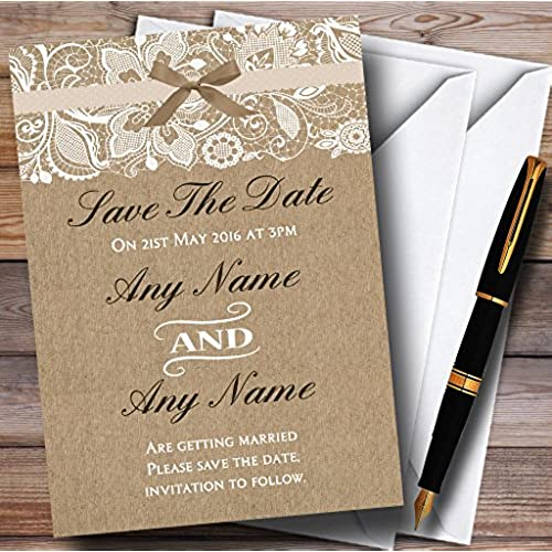 Golden Save The Date For Wedding Invitation Wedding: Wedding Save The Dates: Amazon.co.uk