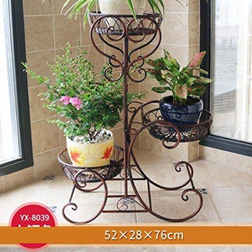 c95cc86ccc9c ILQ Fer Multi étage fleur lit balcon blanc intérieur style européen fleur  pots Pots salon fleur