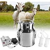 TTLIFE Machine à traire électrique Tire-lait portatif de dispositif de fonte de sein de chèvre et de mouton d'impulsion de 14