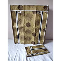 EEMWAY Fabric Cover only (for Portable Shoe Rack, 4-laier) (Flower Print)
