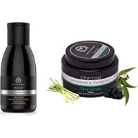 The Man Company Activated Charcoal Face wash (Ylang Ylang & Argan Essential Oils) to Flight Pollution & Ace, Oil Control…