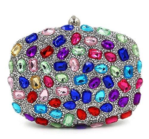 WYB Strass Abendtasche / Clutch Diamant / Party Fashion Messenger Bag / Handtasche 6