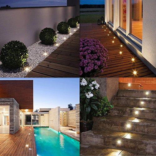 12x lampada da incasso faretto led plafoniera led 0 6w luce bianco caldo dc12v ip67 incasso a - Piante per bordo piscina ...