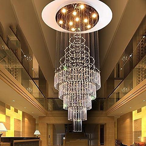 DG.99® Double escalier lumières Creative Led crystal Light salon Lustre long Hôtel Villa luxueux Lobby suspendu lumières , 10