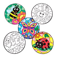 Bug Colour-In Window Decorations (Pack of 12)
