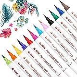 Marqueurs de pinceau Brush Pen Set stylo pinceau–10couleurs–beupro avec flexible souple Créer réel Pointe Pinceau aquarelle Effet