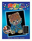 Mammut 8041710 - Sequin Art Blue Teddy Hund, ca. 36 x 27 cm