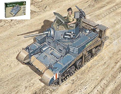 Italeri IT15761 M3 Stuart Light Tank KIT 1:56 MODELLINO Model kompatibel mit