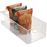 iDesign bac rangement frigo, grande boîte alimentaire spacieuse en plastique, boîte conservation alimentaire à poignées…