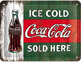 Plaque en metal - Coca Cola - Ice cold - Sold Here