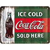 Nostalgic-Art 26174 Coca-Cola - Ice Cold Sold Here, Blechschild 15x20 cm