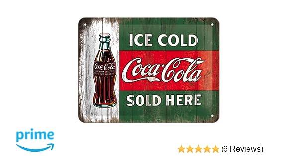 Retro Kühlschrank Cola : Amazon nostalgic art coca cola ice cold sold here