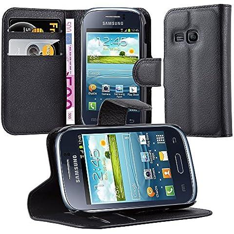Cadorabo - Funda Samsung Galaxy YOUNG (S6310) Book Style de Cuero Sintético en Diseño Libro - Etui Case Cover Carcasa Caja Protección (con función de suporte y tarjetero) en