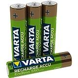Varta Recharge Accu Endless Energy AAA Micro Ni-Mh Akku 4er Pack 550 mAh - bis zu 3500 Ladezyklen, geringe Selbstentladung, vorgeladen und Ready2Use - wiederaufladbar ohne Memory Effekt