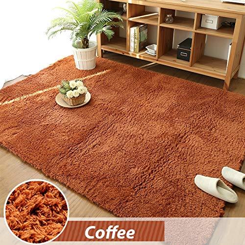 YACAOS Wohnzimmer Teppich Schlafzimmer Teppich Weichem Plüsch Teppich Baby Teppich 100X200cm Kaffee -