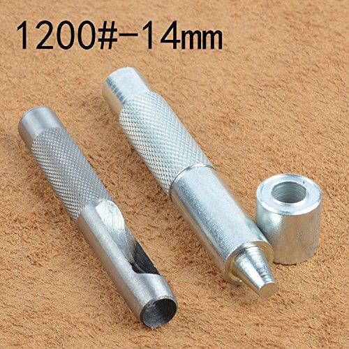 Ösestanzen, Werkzeug-Set + 20Paar Öse mit Unterlegscheibe, für Leder/Kleidung/Banner, 1200#-14mm