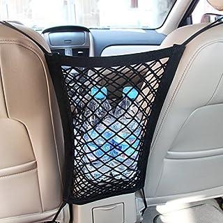 MICTUNING Universal KFZ Auto Netz Schutznetz Organizer mit Halter für Beutel Kinder Spielzeug Wasser