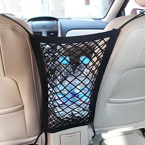 MICTUNING Universal KFZ Auto Netz Schutznetz Organizer mit Halter für Beutel Kinder Spielzeug Wasser -