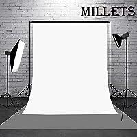 Millets 8 x 12 feet Lekra Wrinkle Free Studio Background Backdrop(Camera Accessory) (White)