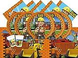 Hit bpwfa-61Bob der Baumeister Party Geschirr Set für 8Personen