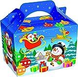 German Trendseller® - 8 x sacs cadeaux avec poignée┃avec motifs rentier, bonhomme de neige, père Noel ┃idéal sous la sapin de Noel