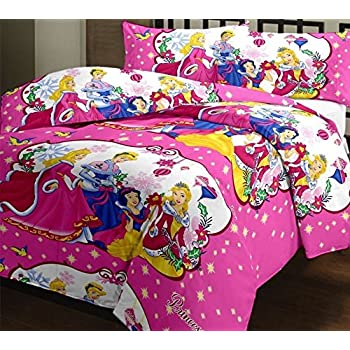 Angeltextile Prumart Disney Princess  Double Bedsheet   Bedsheets/ Bed  Sheet Kids