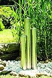 Köhko 112 cm Springbrunnen 22002 aus Edelstahl mit LED-Beleuchtung Säulenbrunnen