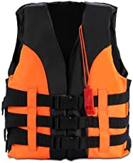 Life Jacket, Kids Swimming Buoyancy Aid Life Jacket Vest with Whistle for Safety Watersport Activities 2-12 Years Old