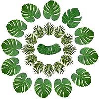 cheerfulus 36PCS Hawaii Tropical Palm Monstera Deja la Hoja de la Simulación para la Decoración de la Pared de la Mesa del Partido de Luau