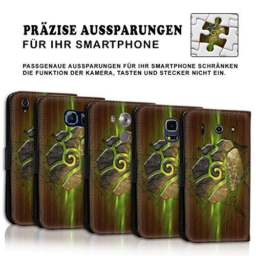 Wallet Book Style Flip Handy Tasche Case Schutz Hülle Schale Motiv Etui für Apple iPhone 5 / 5S - Variante UMV11 Design12 Design 7