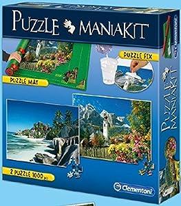 Clementoni - Puzzle Mania Kit: 2 puzzles de 1000 piezas + tapete + pegamento (392780)