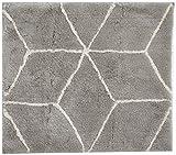 ESPRIT Flair Moderner Markenteppich, Polyacryl, Silber, 65 x 55 x 2 cm