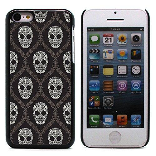 Graphic4You Pirate Flag with Skull Made of Words Design Harte Hülle Case Tasche Schutzhülle für Apple iPhone 5C Design #7