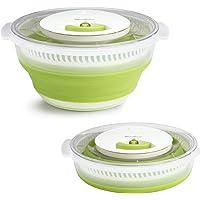 Moulinex Essoreuse à salade rétractable 4 L, Mécanisme à cordon, Tirage sans effort, Gain de place, Compact et pratique…