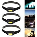 Garberiel Headlamp LED Head Torch (3 Pack) 3 Modes Headlight for Running,Dog Walking,climbing,Cycling,Camping,Fishing