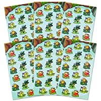 Frog Stickers Party Supplies Pack -- Over 108 (6 Party Favor Sheets)