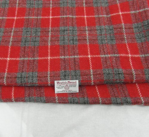 Authentic Harris Tweed Stoff 100% Reine Wolle mit Etiketten. 75cm x 50cm...