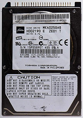 Toshiba 40 Gb Notebook-festplatte (Toshiba MK4025GAS HDD2190 IDE ID11364 Notebook Festplatte/HDD)