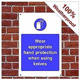 Tragen Hand Schutz Schild foo06 PVC-Aufkleber (Vinyl) A4 200mm x 300mm (approx 8
