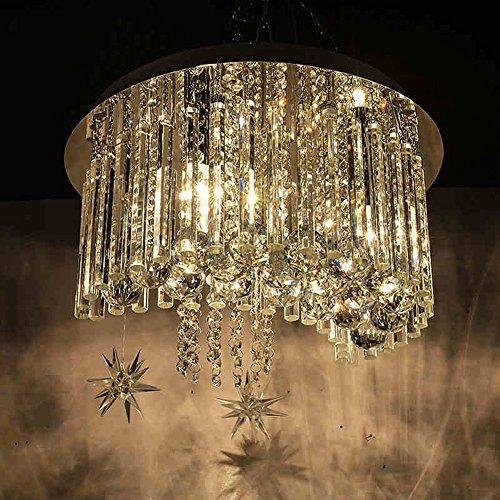 HAIZHEN Deckenlichter Einbauleuchten 9W LED Kristall Deckenlampe Flush Mount Licht Durchmesser 40cm E14 * 3 Birne enthalten -langes Leben (Flush 3 Birne Mount)