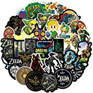 XUUX The Legend of Zelda Stickers for Teen Laptop Skateboard|50pcs|, Cool Game Decal for Water Bottle, Phone,