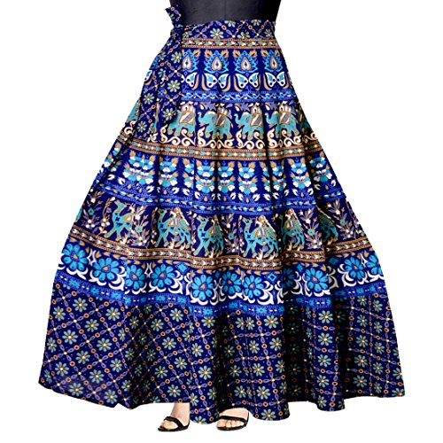 WOMENS COTTON WRAP AROUND WESTERN WEAR SKIRTS
