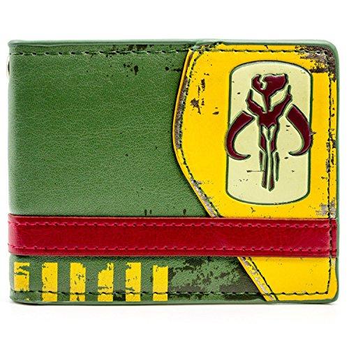 Star Wars Mandalorian Kopfgeldjäger Symbol Grün Portemonnaie ()